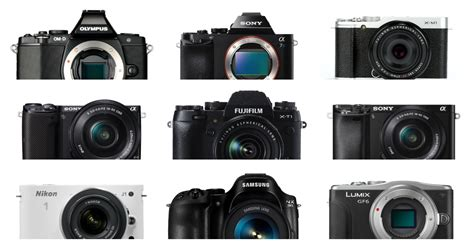 The 19 Most Popular Compact System And Mirrorless Cameras