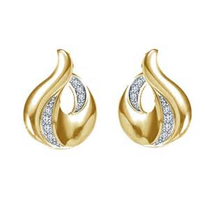 design of gold earrings ear tops new fashion gold earrings images