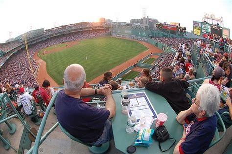 view from the budweiser roof deck at boston s fenway park