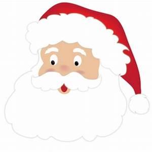 Santa Clipart Image - Cute Cartoon Santa Claus Face ...
