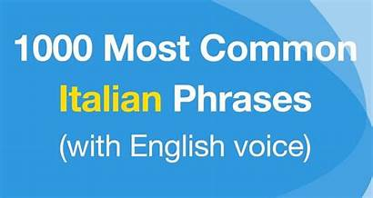Italian Common Phrases Most Words Magical Planet
