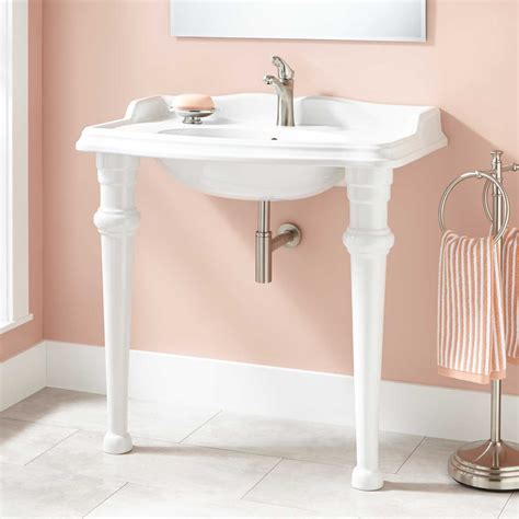 Single Sink Consoles Bathroom by 35 Quot Janson Porcelain Console Sink Bathroom