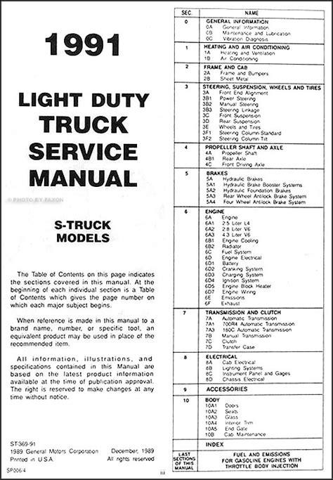 car repair manuals online pdf 1993 chevrolet s10 navigation system 1991 chevrolet s 10 pickup and blazer repair shop manual original