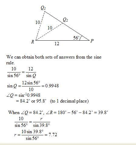 Law Of Sines Or Sine Rule (solutions, Examples, Videos