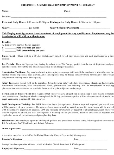 New Hire Probationary Period Agreement Template | PDF Template