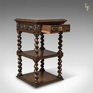 Antique Side Table, Carved Green Man English Oak Stand