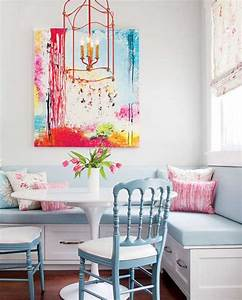 White kitchen decorating with colorful accents in for Kitchen colors with white cabinets with mirror framed wall art