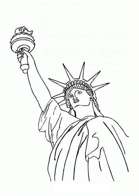 Statue Of Liberty Drawing Template by Statue Of Liberty Drawing Template Www Pixshark