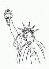 Liberty Statue Drawing Coloring Pages Outline York Printable Clipart Template Draw Clip Colouring Directed Printables Templates Cliparts Getdrawings Fourth July sketch template