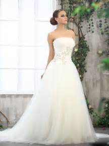 strapless wedding dress looking chic and with strapless gown wedding dresses sangmaestro