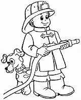 Fireman Coloring Printable Fire Fighter Firefighter Coloriage sketch template