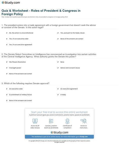 worksheets roles of the president worksheet opossumsoft