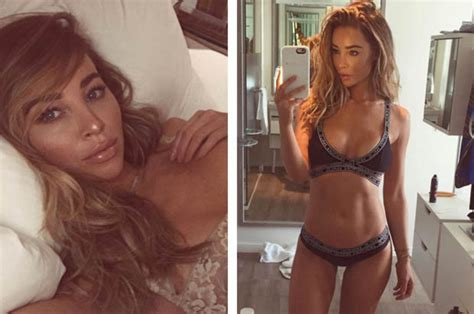 lauren pope shows  nude lingerie   poses  bed