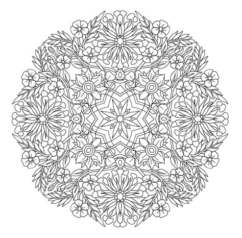 printable coloring page honey suckle mandala  emerlyearts