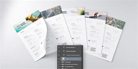 best resume psd template 25 best free resume cv templates psd download