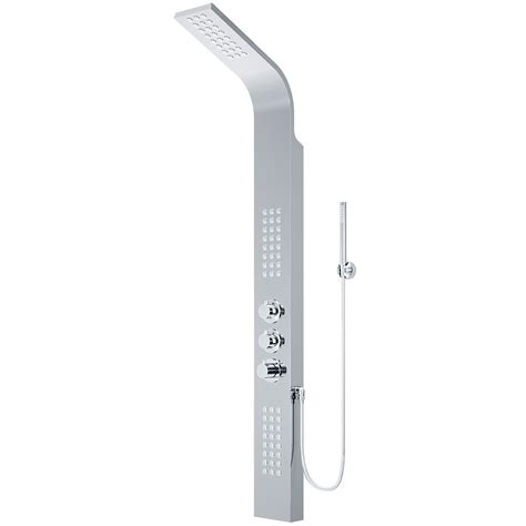 Shower Panels Home Depot - vigo shower panel system with showerhead in chrome