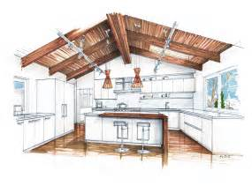 Stunning Images Home Sketch Plans by Interior Design Sketches Kitchen Mick Ricereto Interiors