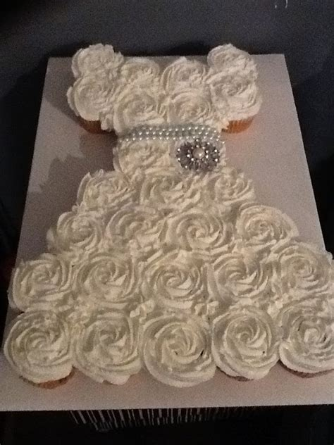 bridal shower cupcakes life and other projects bridal shower pull apart cupcake cake tutorial