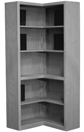 Corner Cabinet Bookcase by Unfinished Furniture Custom Corner Options
