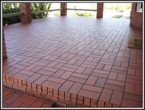 tile concrete patio patios home decorating ideas