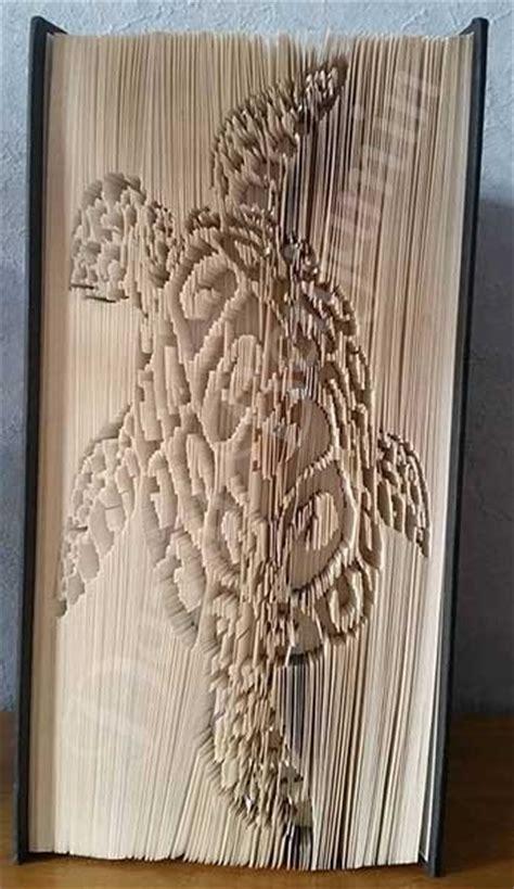 tribal turtle cut fold book folding pattern cut