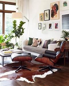 le tapis de salon dans quelques mots et beaucoup de photos With tapis peau de vache avec modern loft canape