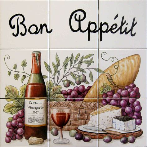 kitchen sayings bon appetit cooking quotes tile art glass