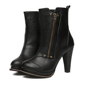 Woman Leather Motorcycle Boots