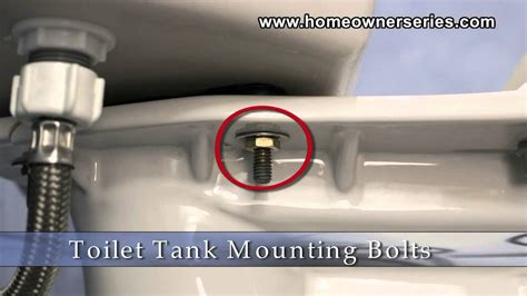 fix  toilet parts tank mounting bolts youtube