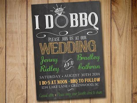 bbq wedding invitation template  chalkboard