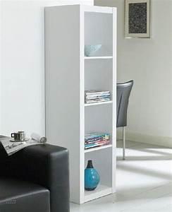 Petite Tablette Murale : gloss bibliotheque etagere laque blanc design ~ Teatrodelosmanantiales.com Idées de Décoration