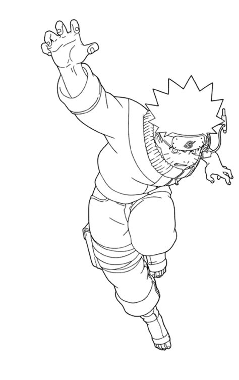 coloring pages anime naruto fighting cartoon coloring