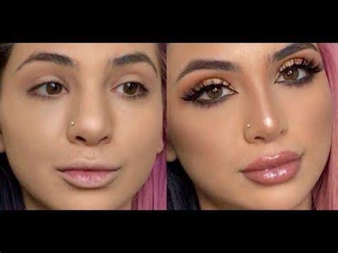 fake  nose job contouring  nose sadiaslayy youtube big nose makeup nose makeup