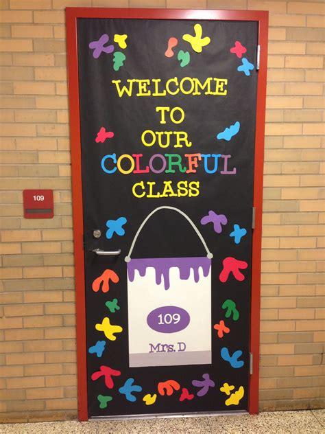 kindergarten classroom door decorations welcome to our colorful classroom door design school