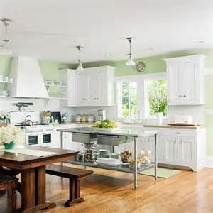 kitchen green walls white cabinets kitchen