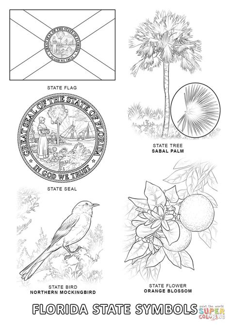 California State Symbols Coloring Pages Alabama State Symbols Coloring Pages Coloring Home