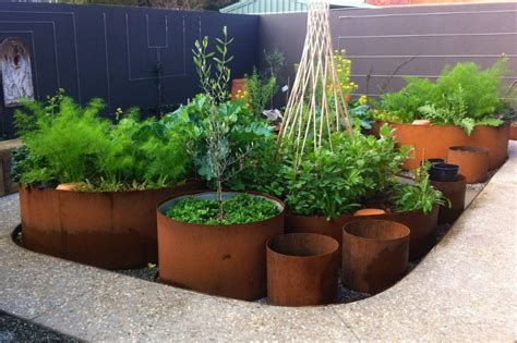 corten steel planter beautiful corten steel planters shaped and inspired by nature