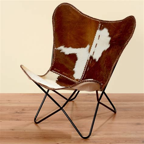 fauteuil marron blanc peau de vache fourrure cuir club lounge en ebay