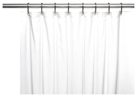 wide 5 vinyl shower curtain liner with metal