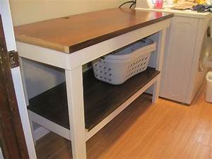 Laundry room table being the carruths for Laundry room folding table plans
