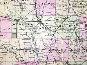 1878 Colton U0026 39 S Iowa Map