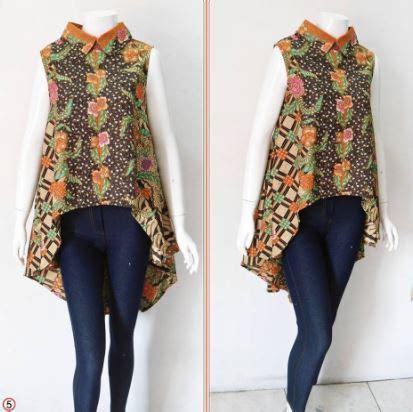 contoh model blouse batik atasan wanita modern