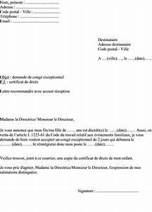 Lettre Deces : modele lettre conge deces ~ Gottalentnigeria.com Avis de Voitures