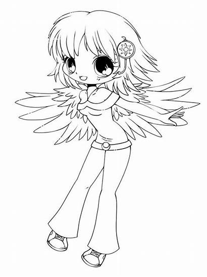 Coloring Chibi Pages Drawing Printable Anime Delilah
