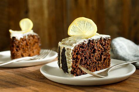 moist gingerbread cake  lemon glaze recipe nyt cooking