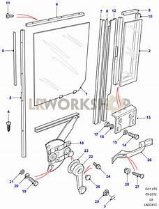 Rear Side Door - Window Regulator Assembly