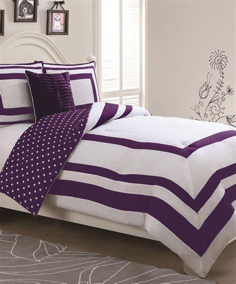 purple polka dot reversible comforter set contemporary