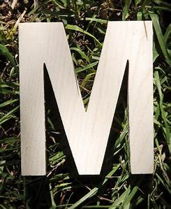 4quot wood letter m With pine letters