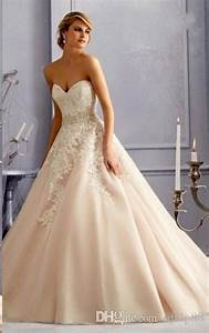 exquisite 2016 blush pink wedding dresses sweetheart beads With cheap blush wedding dresses