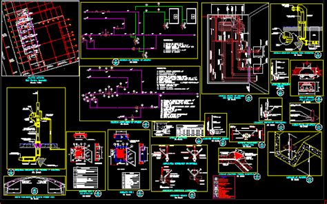 details  water supply networks dwg detail  autocad